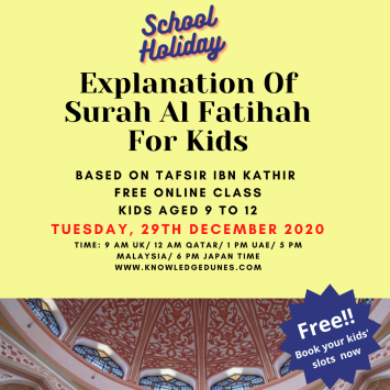 (conflicting copy) Explanation Of Surah Al Fatihah For Kids